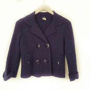 J. Crew Navy School Boy Double Breast Blazer Coat